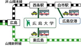 広島大学への公共交通機関